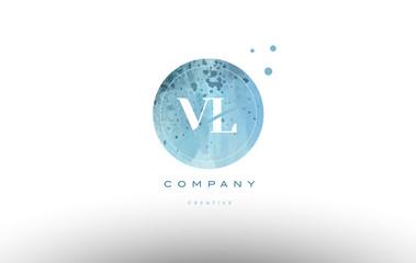 vl v l  watercolor grunge vintage alphabet letter logo