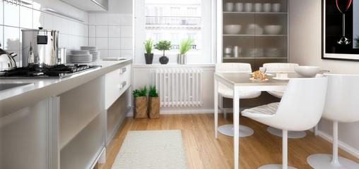 Moderne Einbauküche (panoramisch)
