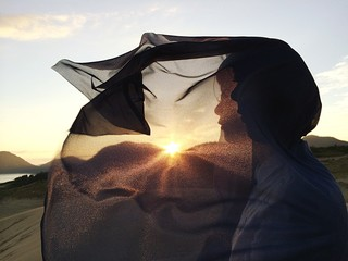 Close-Up Of Woman Against Sunset