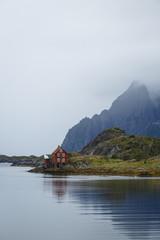 Landscape in Kabelvåg, Lofoten Islands, Norway.
