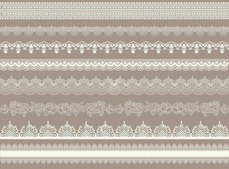 Beautiful lace ribbons set
