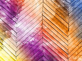 Papiers peints Affiche vintage Colorful wooden wall background