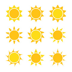 Sun icons collection