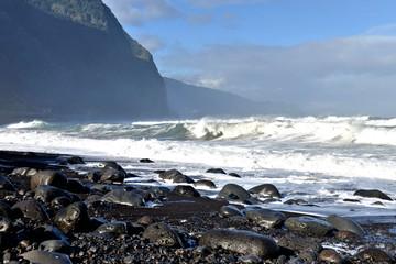 plage de rochers à Madère