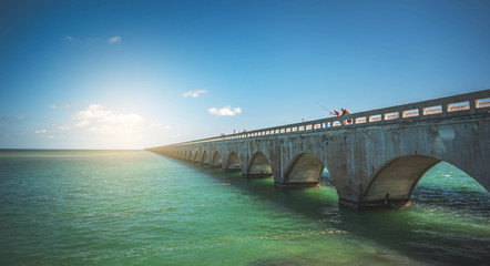 seven Miles Bridge at Florida Keys