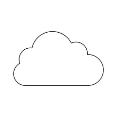 silhouette in cloud in cumulus shape vector illustration