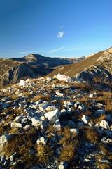 On top Vranjaj. Massif Orjen, Montenegro