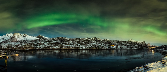 Aurora borealis at the lofoten islands