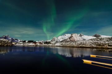 Aurora borealis at the lofoten islands