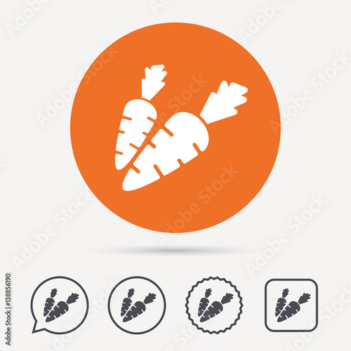 quotcarrot icon fresh natural vegetable symbol vegetarian