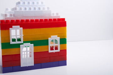house with designer cubes