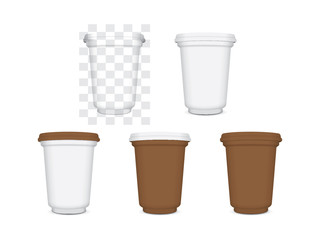 plastic cup for your design and logo Easy to change colors Mock up EPS10