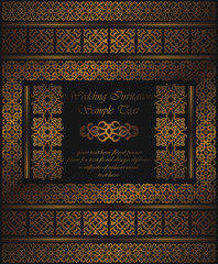 Invitation with a frame and borders