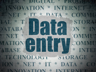 Data concept: Data Entry on Digital Data Paper background