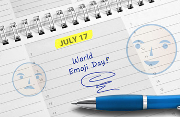 Note: World Emoji Day, July 17