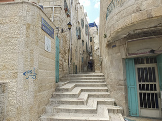Street in the old city of Jerusalem in Israel