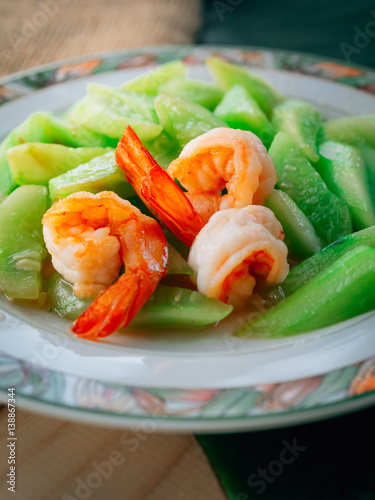 Vintage style traditional thai food stir fried cucumber for Antique thai cuisine