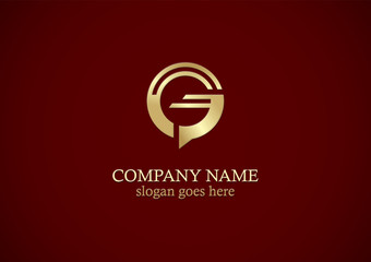round letter g gold company logo