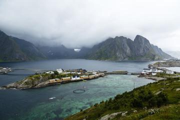 Sakrisøy near Reine, Lofoten Islands, Norway.
