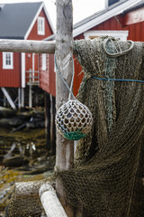 Fishing net, Svolvaer, Lofoten Islands, Norway.