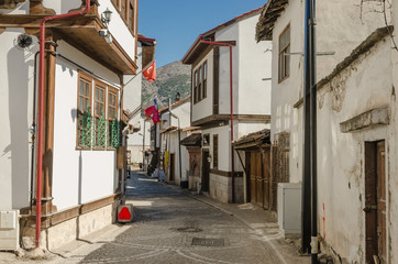 Old traditional Ottoman houses in Amasya, Turkey