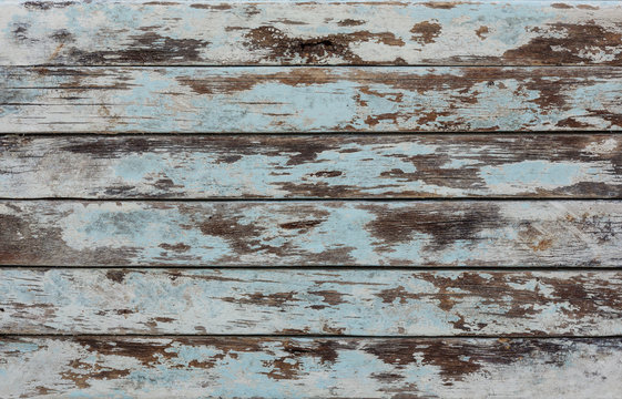 Shabby, old, weathered, wooden, rustic wall.Vintage hardwood.Grungy rough gray stained background
