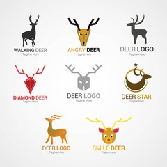 Deer Logo Design Template.
