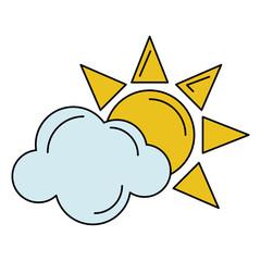 sun cloud weather symbol vector illustration eps 10