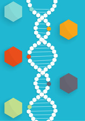 DNA abstract medical infographic template