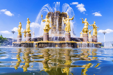 Peoples' Friendship fountain at the Exhibition of Economic Achievements in Moscow