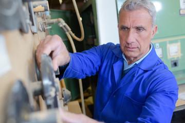 electrician repairman in work wear