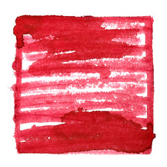 Red abstract background with frame and shading