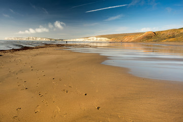 A quite beach at Compton Bay, Isle of Wight
