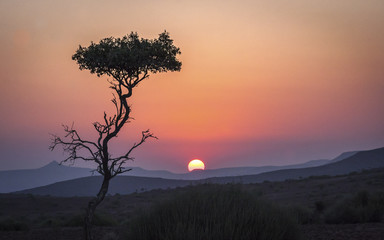 Sunset in the Dalmation Mountains, Namibia