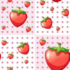 Seamless strawberries