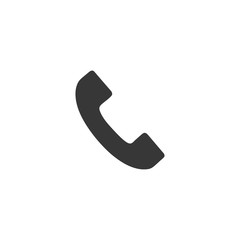 telephone icon on white background