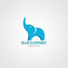 Elephant Logo Design Template. Vector Illustration