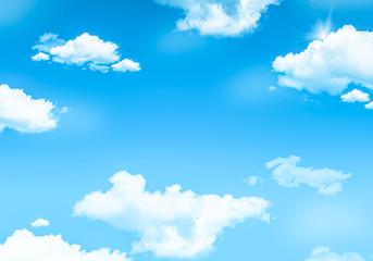 Spring blue sky background.