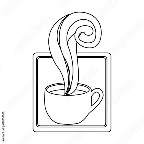 Figure squard symbol of coffee cup vector illustraction design image q - Figure libre architecture ...