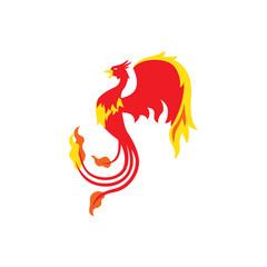 Phoenix bird logo design template