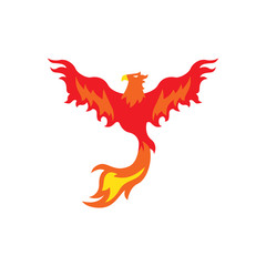 Phoenix bird logo design template