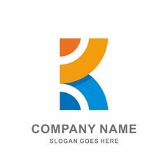 Monogram Letter K Geometric Circle Square Architecture Interior Decoration Business Company Stock Vector Logo Design Template