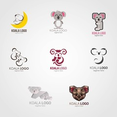 Koala Logo Design Template. Vector Illustration