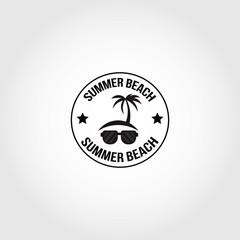 Summer Beach Logo Design Vector.