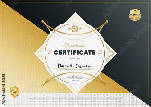 certificate vector template diploma design graduation  certificate vector template diploma design graduation achievement success layout