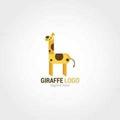 Giraffe Logo Design Template. Vector Illustration
