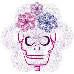 skull with flourishes