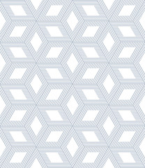 Seamless op art pattern. 3D optical illusion.