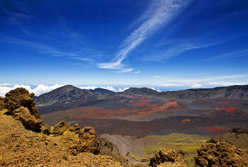 View crater of Haleakala National Park, Maui, Hawaii