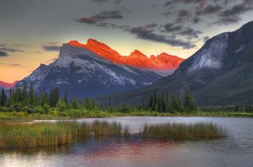 Mount Rundle; Vermillion Lake; Banff National Park; Alberta; Canada